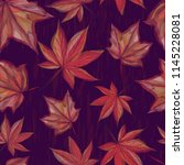 autumnal seamless pattern with... | Shutterstock .eps vector #1145228081