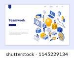 teamwork modern flat design... | Shutterstock .eps vector #1145229134