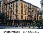 urban setting of downtown with... | Shutterstock . vector #1145233517