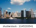 beautiful manhattan cityscape... | Shutterstock . vector #1145233541