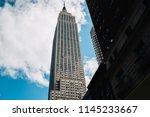 high skyscraper raised over... | Shutterstock . vector #1145233667