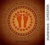beautiful diwali vector... | Shutterstock .eps vector #114523534