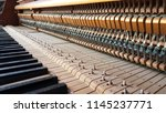 inside of old piano before... | Shutterstock . vector #1145237771