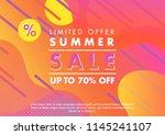 summer sale banner. unique... | Shutterstock .eps vector #1145241107