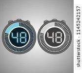 electronic digital stopwatch.... | Shutterstock .eps vector #1145242157