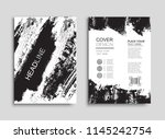 grunge background for covers ... | Shutterstock .eps vector #1145242754