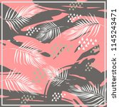 abstract exotic pattern square... | Shutterstock .eps vector #1145243471