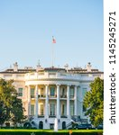 the white house on sunny day ...   Shutterstock . vector #1145245271