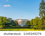 the white house on sunny day ...   Shutterstock . vector #1145245274