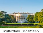 the white house on sunny day ...   Shutterstock . vector #1145245277