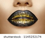 lips make up. beauty high... | Shutterstock . vector #1145252174
