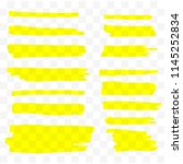 highlighter brush set. vector... | Shutterstock .eps vector #1145252834