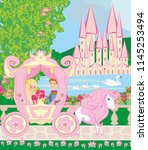 princess with prince in the... | Shutterstock . vector #1145253494