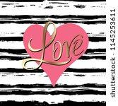 love template for banner or... | Shutterstock .eps vector #1145253611