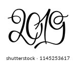 isolated hand drawn lettering... | Shutterstock .eps vector #1145253617