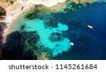 aerial drone bird's eye view... | Shutterstock . vector #1145261684