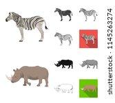 different animals cartoon black ...   Shutterstock .eps vector #1145263274