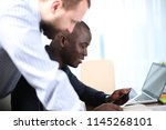 business project team working... | Shutterstock . vector #1145268101
