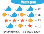 maths game with pictures  of...   Shutterstock .eps vector #1145271224