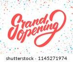 grand opening sign. vector... | Shutterstock .eps vector #1145271974