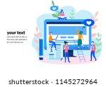 concept blog content  blogging  ... | Shutterstock .eps vector #1145272964