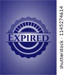 expired emblem with jean texture | Shutterstock .eps vector #1145274614