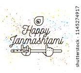 happy janmashtami. vector logo... | Shutterstock .eps vector #1145274917