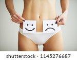 woman health problem. closeup... | Shutterstock . vector #1145276687