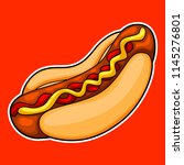 hotdog design element.hotdog... | Shutterstock .eps vector #1145276801