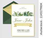 vector floral design card.... | Shutterstock .eps vector #1145279834