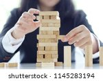 planning  risk and strategy of... | Shutterstock . vector #1145283194