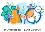 concept save time  money saving.... | Shutterstock .eps vector #1145284904