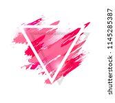 watercolor splash with grunge...   Shutterstock .eps vector #1145285387