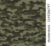camouflage seamless pattern.... | Shutterstock .eps vector #1145286797