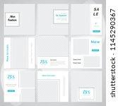 editable simple modern social... | Shutterstock .eps vector #1145290367