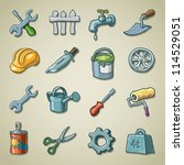 freehand icons   tools | Shutterstock .eps vector #114529051