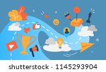 gamification concept.... | Shutterstock .eps vector #1145293904