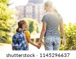 parent and pupil of primary...   Shutterstock . vector #1145296637