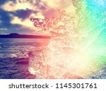 ice in flames.  image of pieces ... | Shutterstock . vector #1145301761