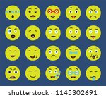 set of 20 icons such as... | Shutterstock .eps vector #1145302691