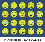 set of 20 icons such as happy ... | Shutterstock .eps vector #1145302751