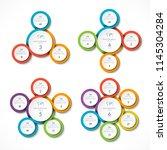 set of infographic circular... | Shutterstock .eps vector #1145304284