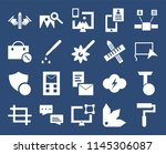 set of 20 icons such as paint...