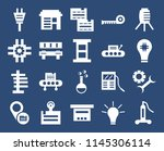 set of 20 icons such as welding ...