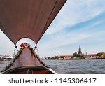 bangkok historic wat arun... | Shutterstock . vector #1145306417