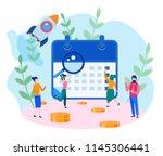 concept financial calendar ... | Shutterstock .eps vector #1145306441