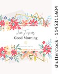 beautiful banner with flowers...   Shutterstock .eps vector #1145311604