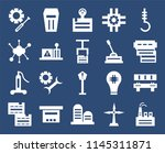 set of 20 icons such as factory ...