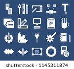 set of 20 icons such as sketch  ...