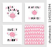 set of card templates for... | Shutterstock .eps vector #1145312594